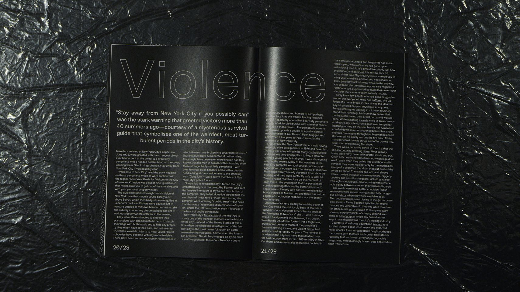Taxi Driver Magazine Violence