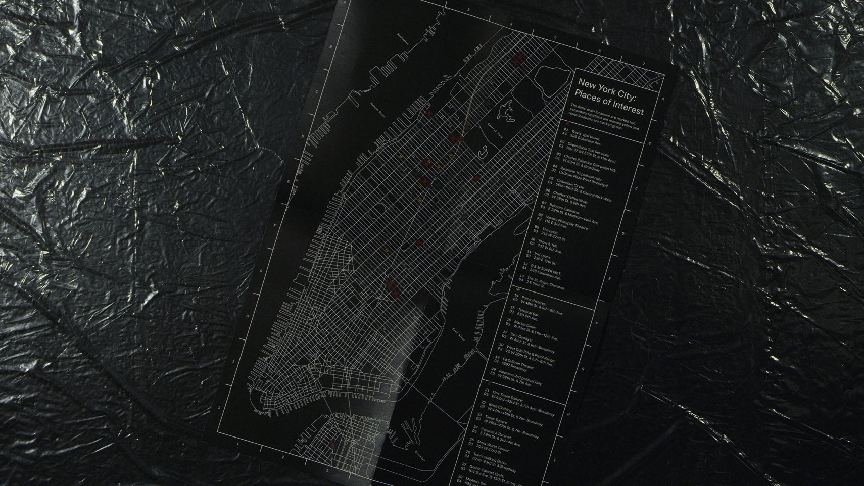Taxi Driver Magazine City Map