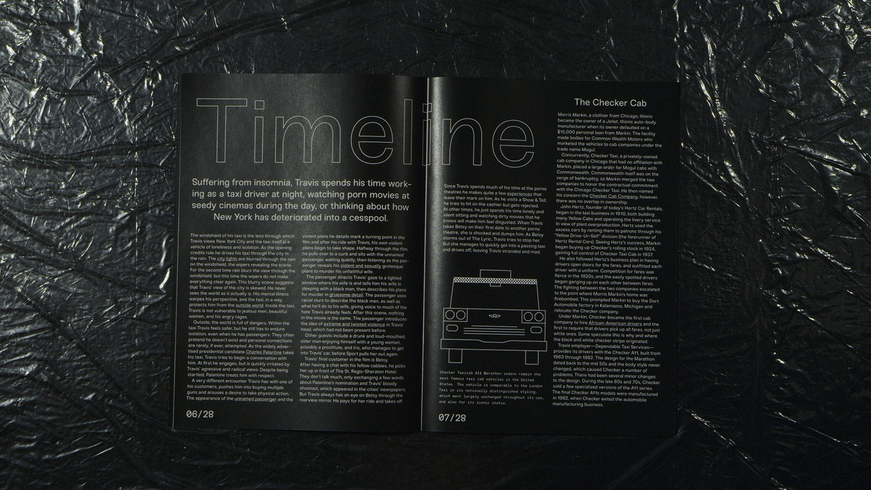 Taxi Driver Magazine Timeline